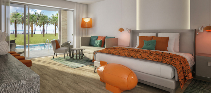 Nickelodeon Resort Punta Cana Accommodations - Jacuzzi Swim-Up Pad